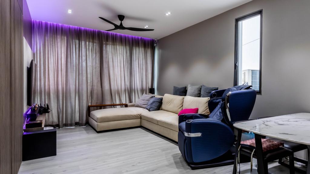 Modern, Condo, Living Room, The Waterina, Interior Designer, Studio S Sq