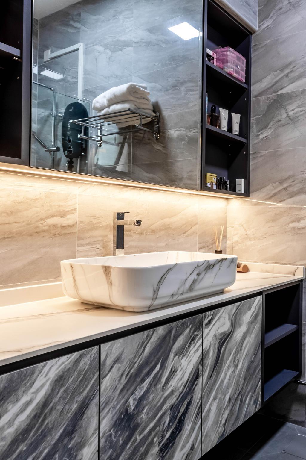 Contemporary, HDB, Bathroom, Compassvale Street, Interior Designer, The Interior Place