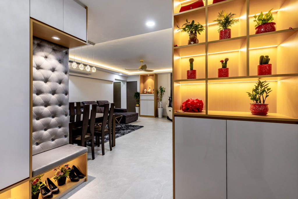 Contemporary, HDB, Dining Room, Compassvale Street, Interior Designer, The Interior Place