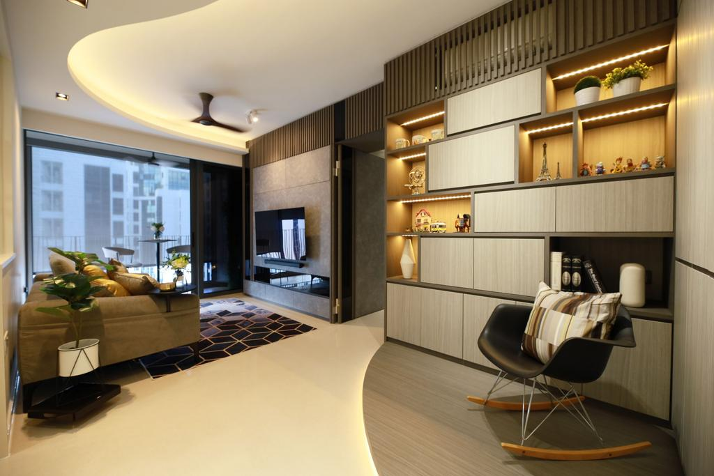Contemporary, Condo, Living Room, Hundred Palms Residences, Interior Designer, Thom Signature Design