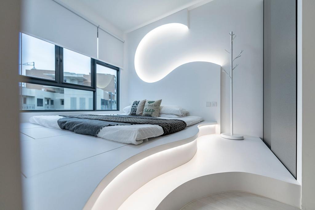 Modern, HDB, Bedroom, Canberra Drive, Interior Designer, Thom Signature Design