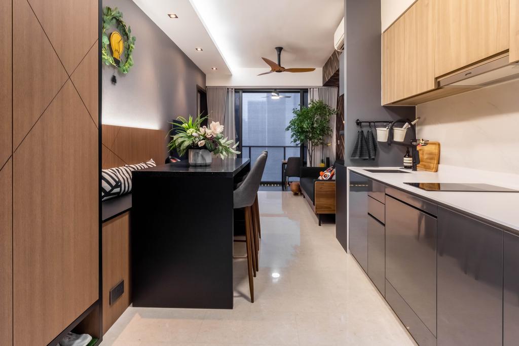 Contemporary, Condo, Kitchen, Botanique at Bartley, Interior Designer, Space Define Interior