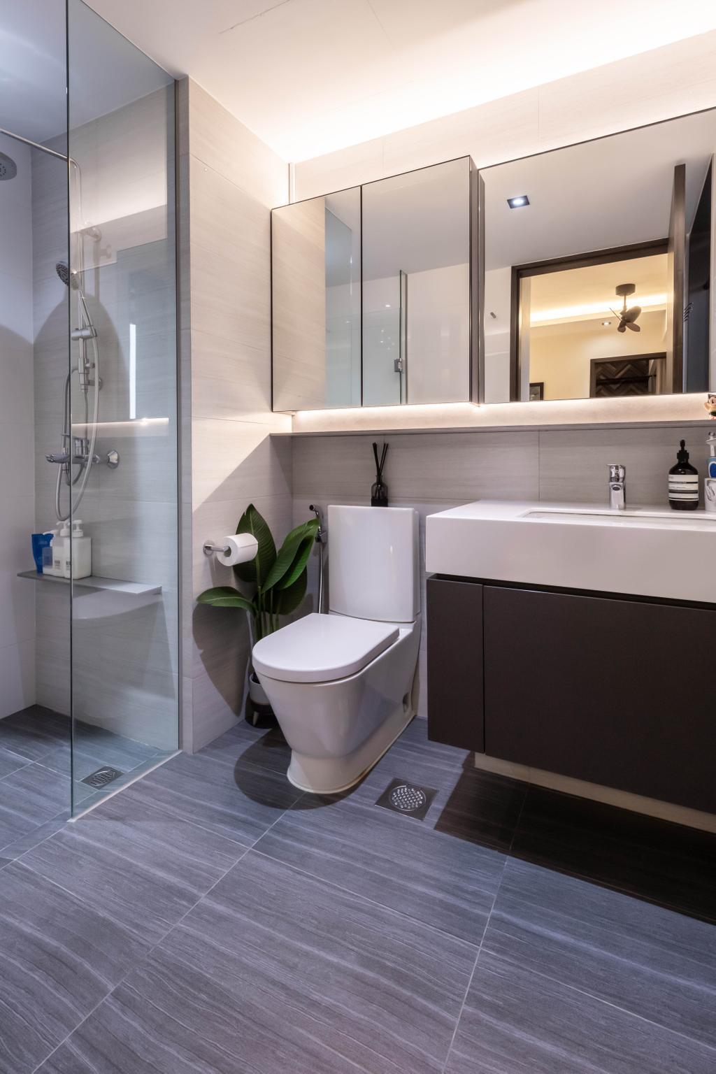 Contemporary, Condo, Bathroom, Botanique at Bartley, Interior Designer, Space Define Interior
