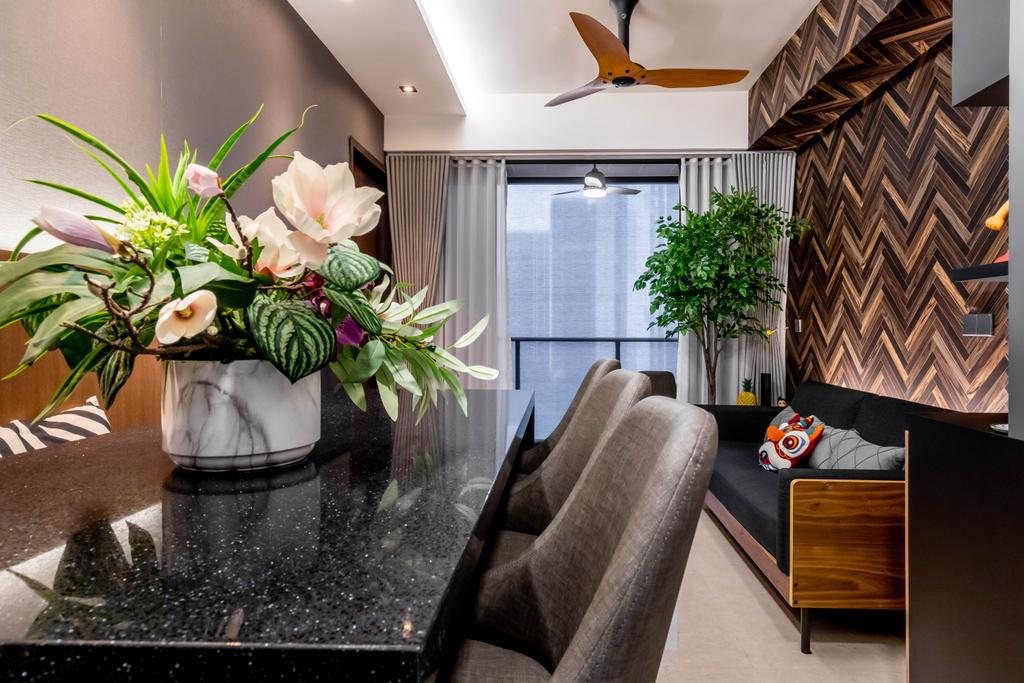 Contemporary, Condo, Living Room, Botanique at Bartley, Interior Designer, Space Define Interior
