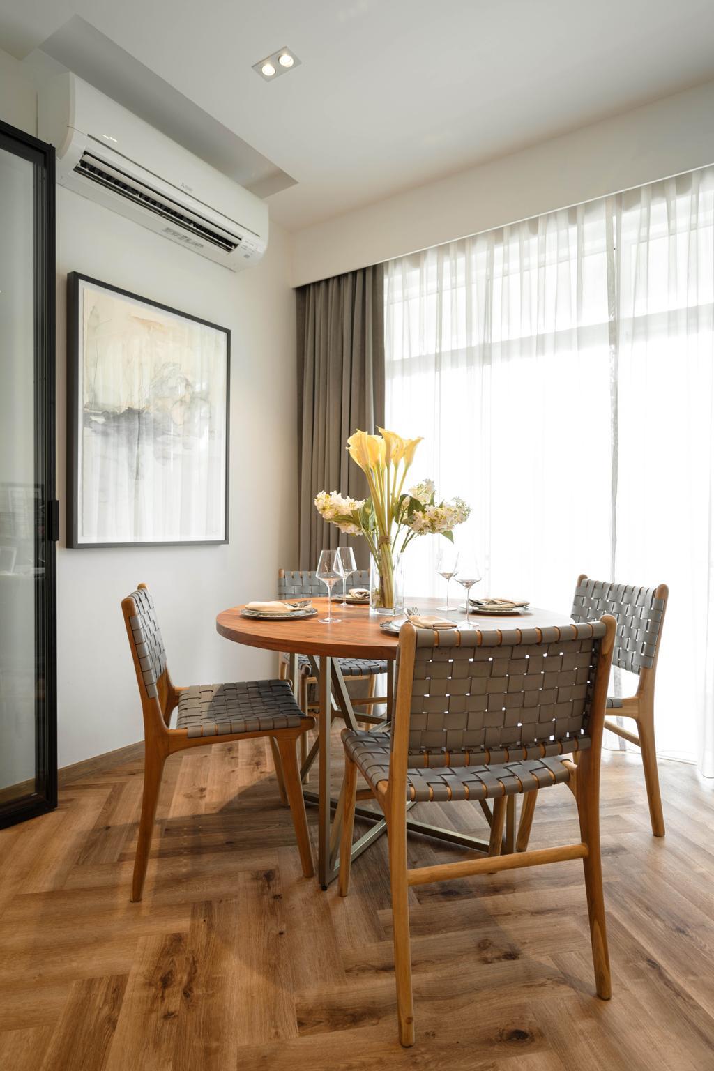 Contemporary, Condo, Dining Room, The Woodgrove, Interior Designer, Mr Shopper Studio