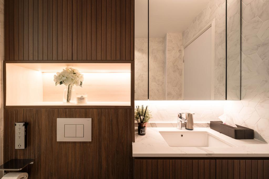 Contemporary, Condo, Bathroom, The Woodgrove, Interior Designer, Mr Shopper Studio