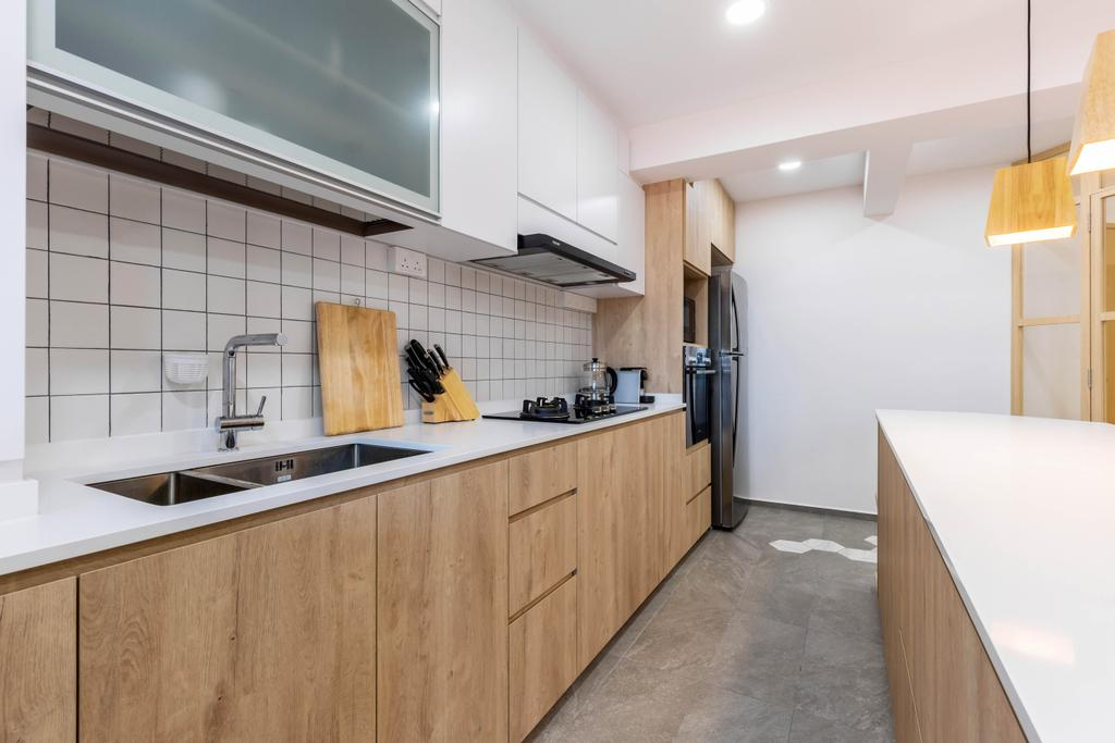 Modern, HDB, Kitchen, Bishan Street 24, Interior Designer, Arteloft, Scandinavian