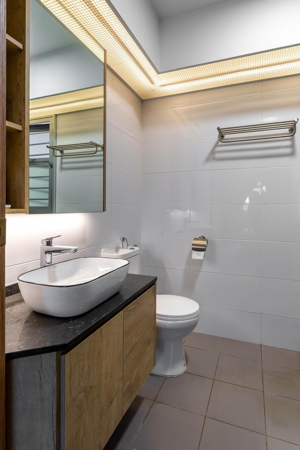 Contemporary, HDB, Bathroom, Anchorvale Lane, Interior Designer, Arteloft