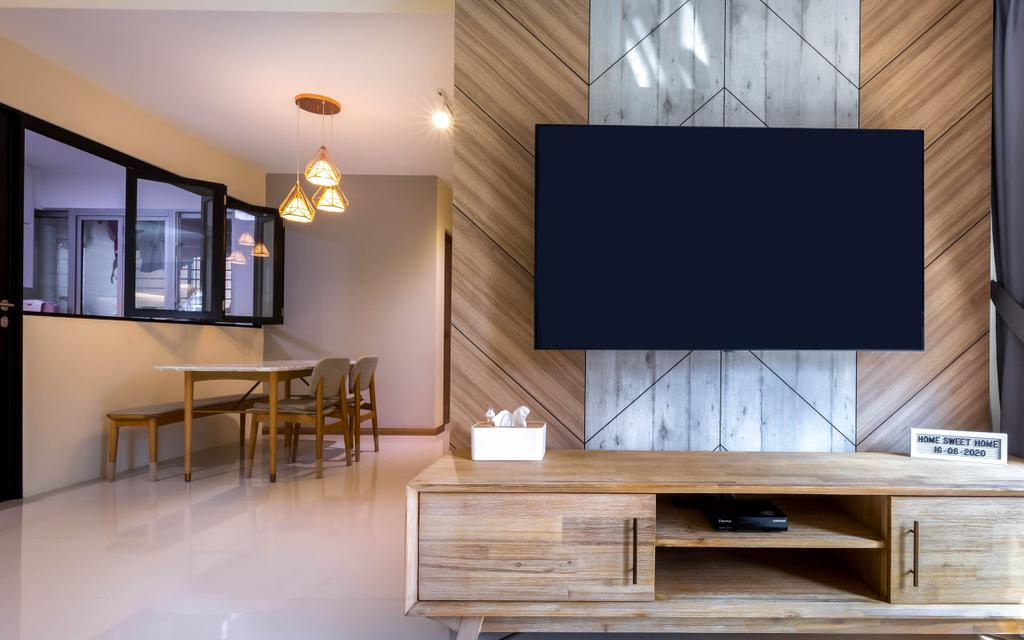 Contemporary, HDB, Living Room, Anchorvale Lane, Interior Designer, Arteloft