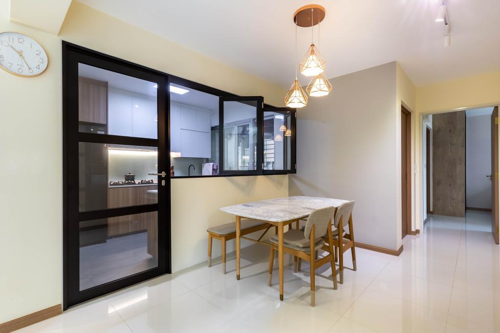 Contemporary, HDB, Dining Room, Anchorvale Lane, Interior Designer, Arteloft