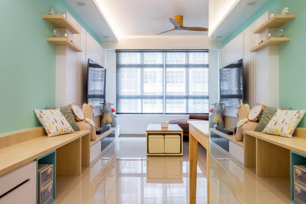 Modern, HDB, Living Room, Yishun Avenue 9, Interior Designer, Arteloft, Scandinavian