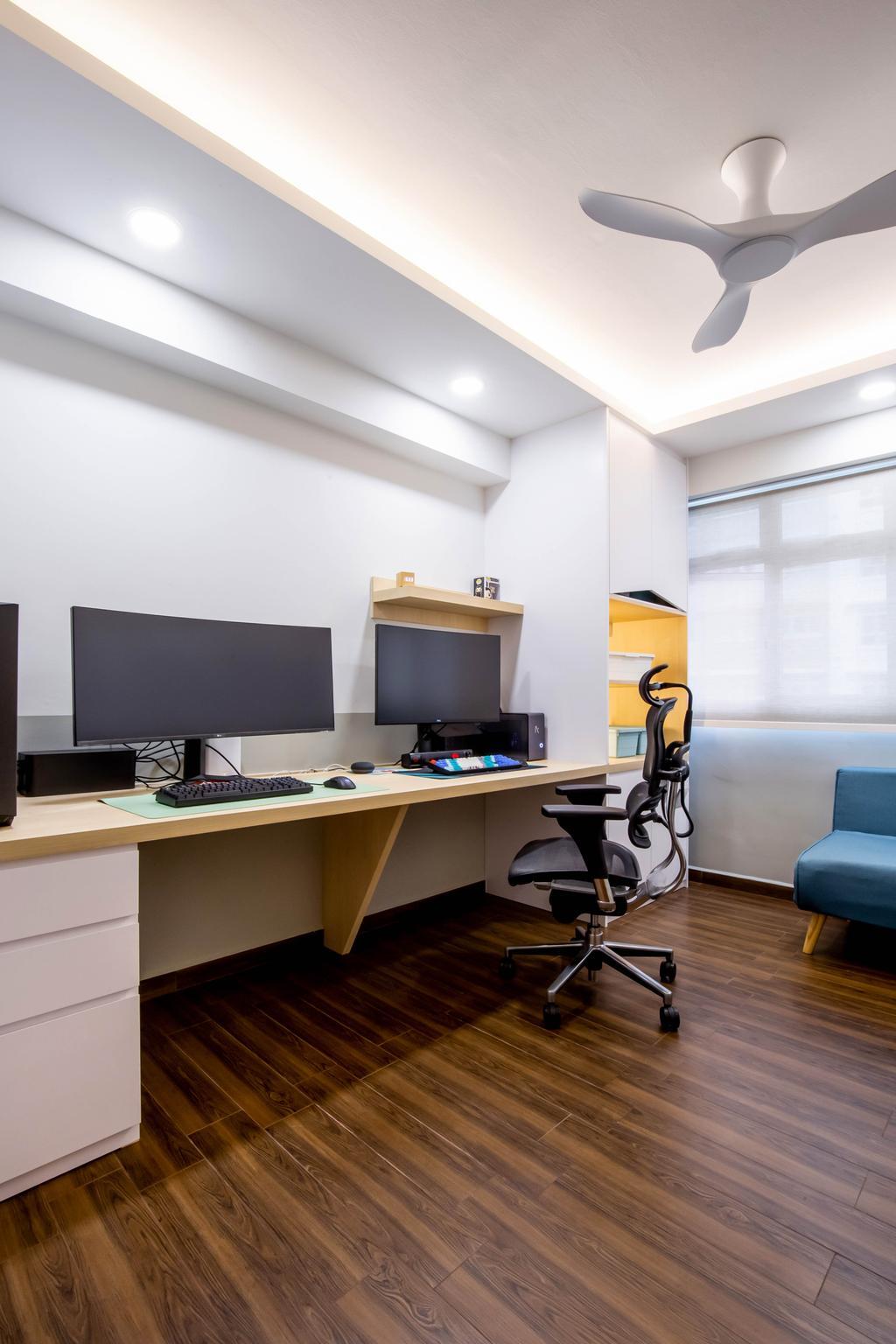 Modern, HDB, Study, Yishun Avenue 9, Interior Designer, Arteloft, Scandinavian