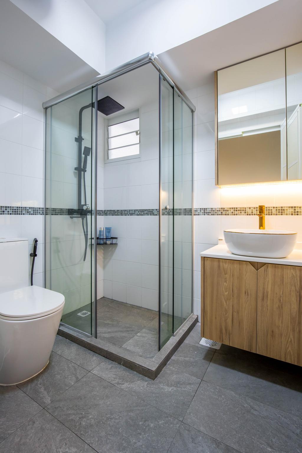 Modern, HDB, Bathroom, Yishun Avenue 9, Interior Designer, Arteloft, Scandinavian