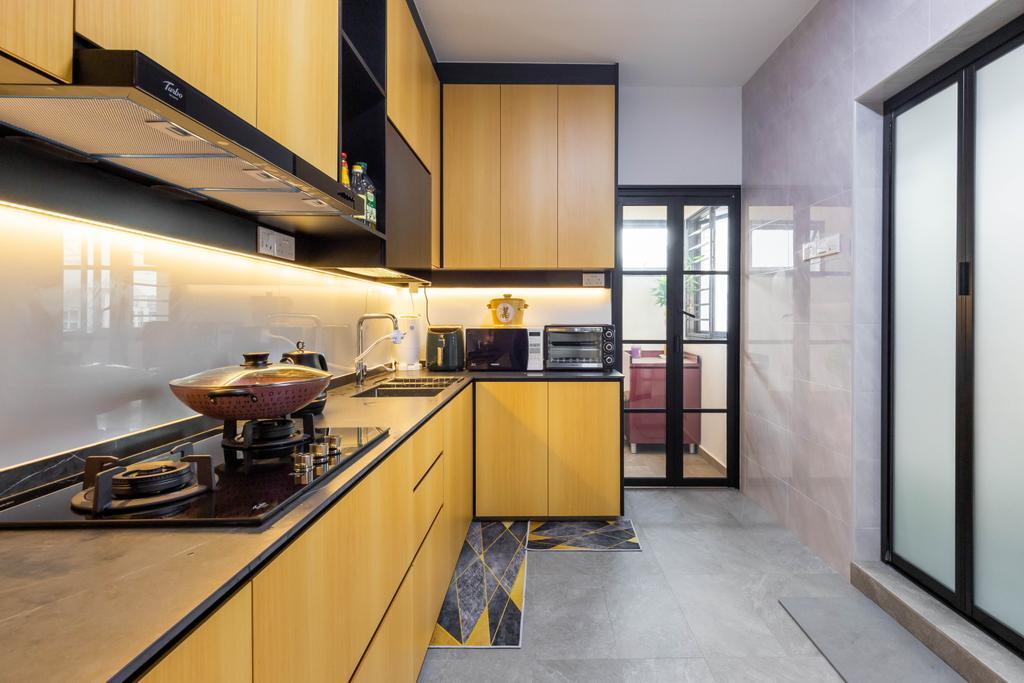Contemporary, HDB, Kitchen, Compassvale Street, Interior Designer, The Interior Place