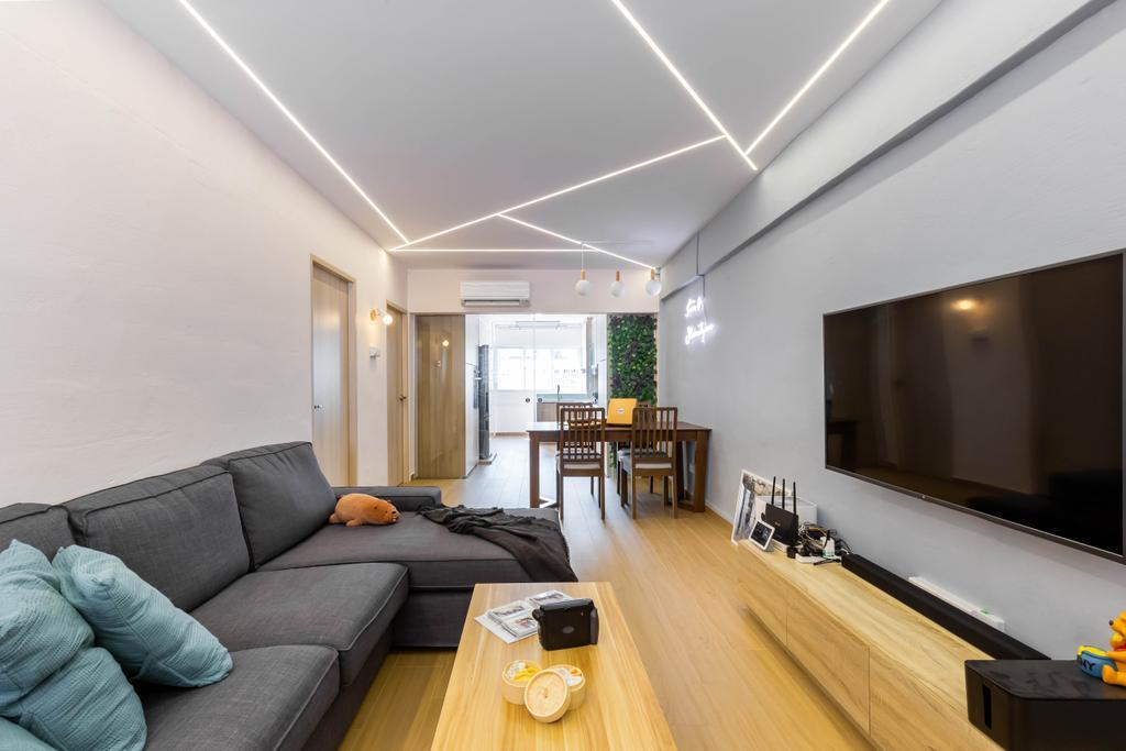 Contemporary, HDB, Living Room, Potong Pasir Avenue 1, Interior Designer, Craftsmen Atelier