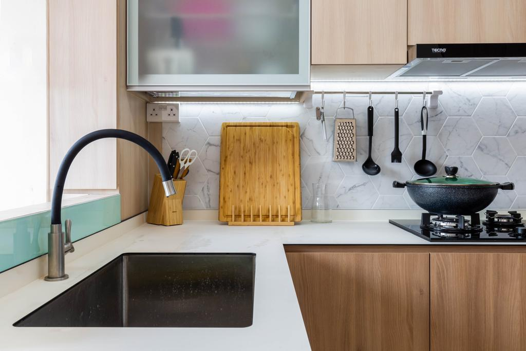 Contemporary, HDB, Kitchen, Potong Pasir Avenue 1, Interior Designer, Craftsmen Atelier