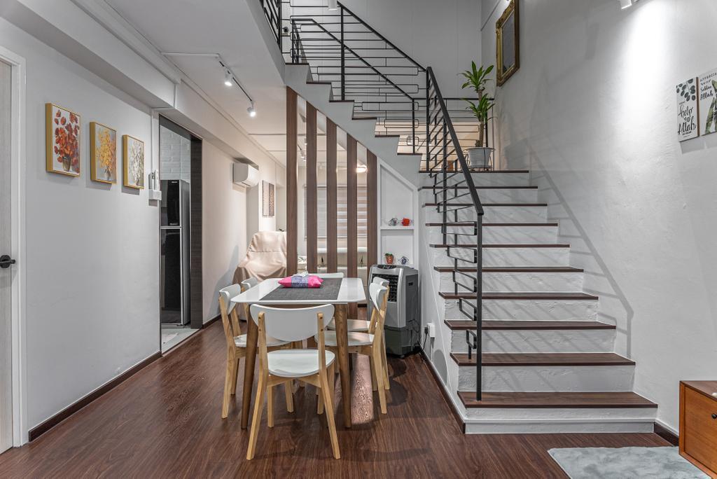 Scandinavian, HDB, Dining Room, Woodlands Avenue 6, Interior Designer, Le Interior Affairs