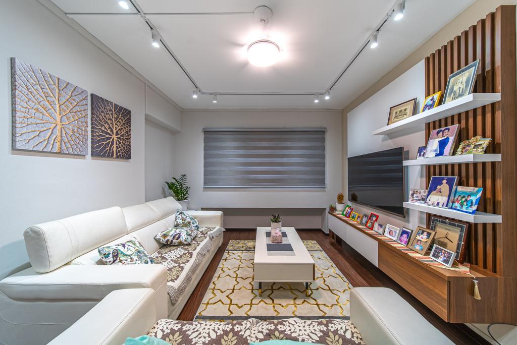 Scandinavian, HDB, Living Room, Woodlands Avenue 6, Interior Designer, Le Interior Affairs
