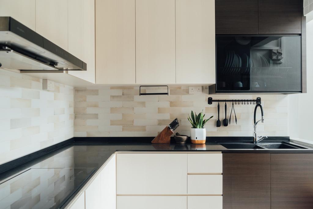 Scandinavian, HDB, Kitchen, Woodlands Avenue 6, Interior Designer, Le Interior Affairs