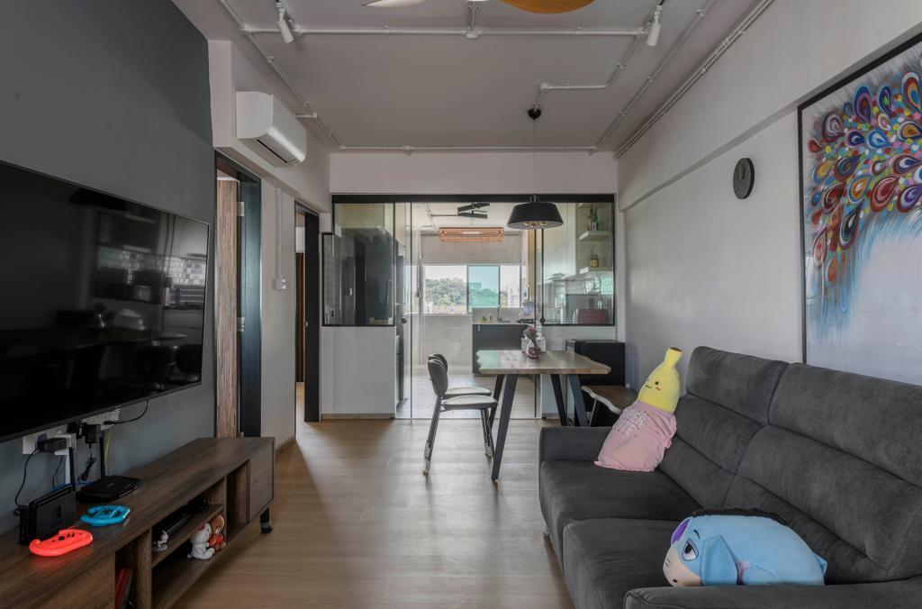 Contemporary, HDB, Living Room, Bukit Purmei, Interior Designer, Butler Interior