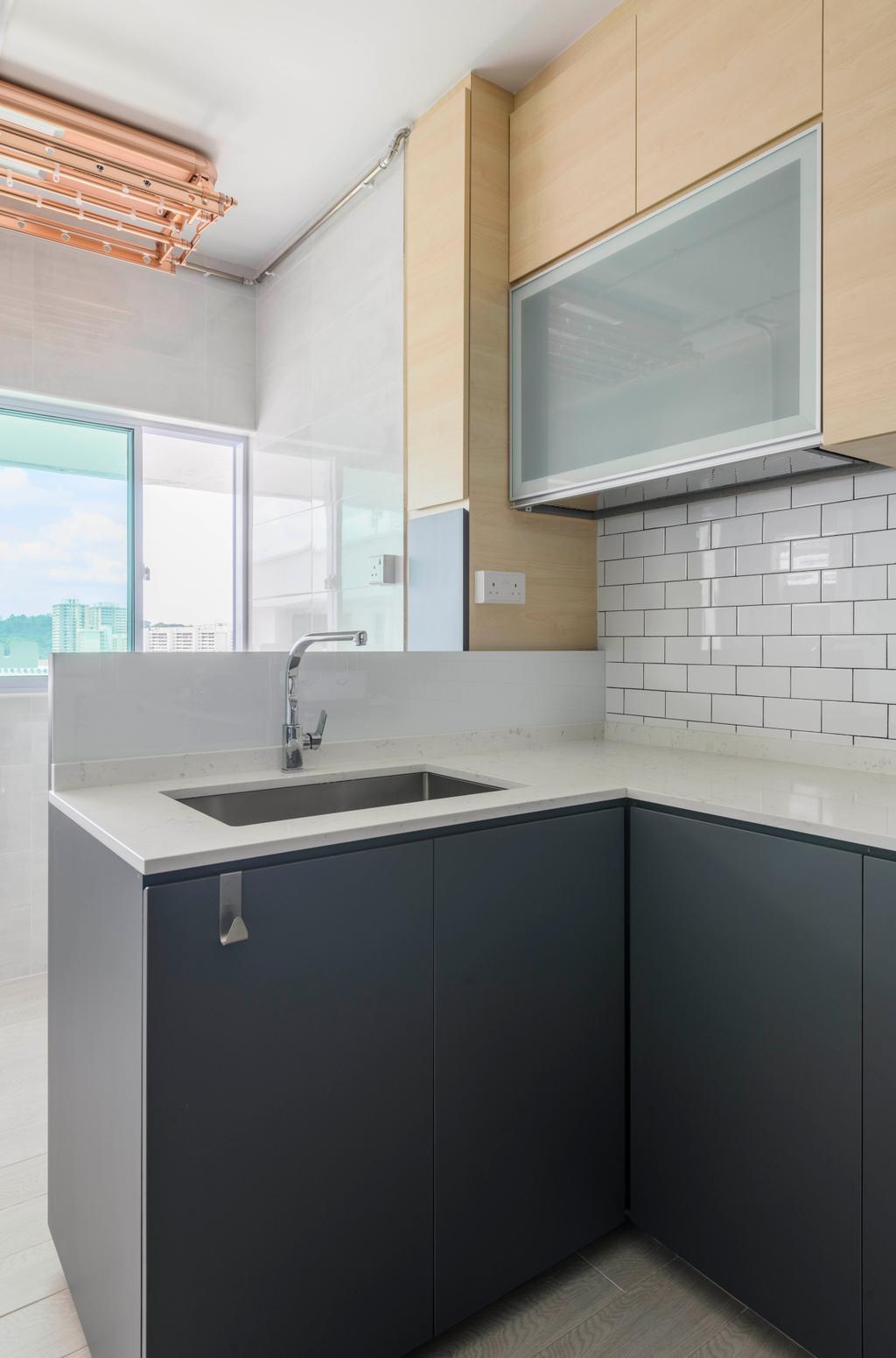 Contemporary, HDB, Kitchen, Bukit Purmei, Interior Designer, Butler Interior