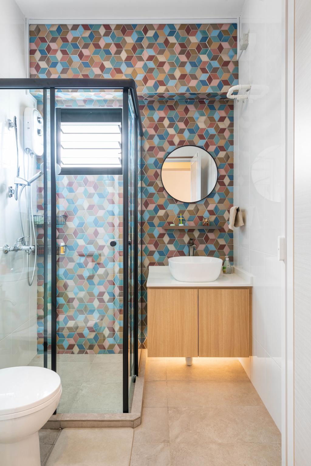 Modern, HDB, Bathroom, Bidadari Park Drive, Interior Designer, Zenith Arc, Scandinavian