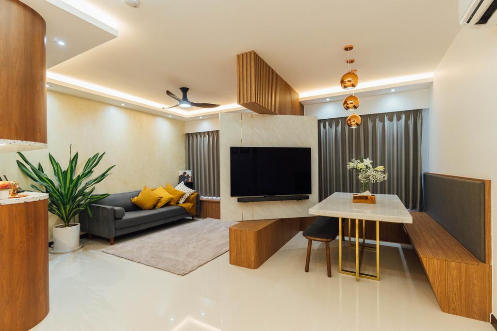 Modern, HDB, Living Room, Clementi Avenue 4, Interior Designer, Le Interior Affairs