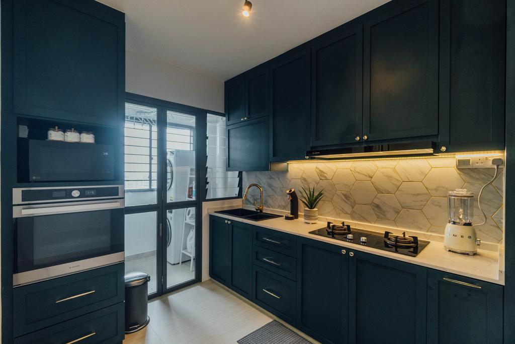 Modern, HDB, Kitchen, Clementi Avenue 4, Interior Designer, Le Interior Affairs
