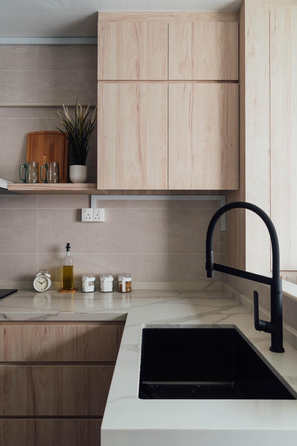Scandinavian, HDB, Kitchen, West Coast Drive, Interior Designer, Le Interior Affairs