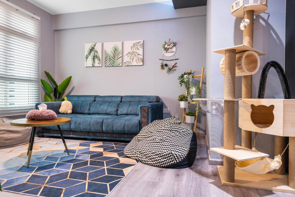 Modern, HDB, Living Room, Choa Chu Kang Avenue 7, Interior Designer, Tab Gallery, Contemporary