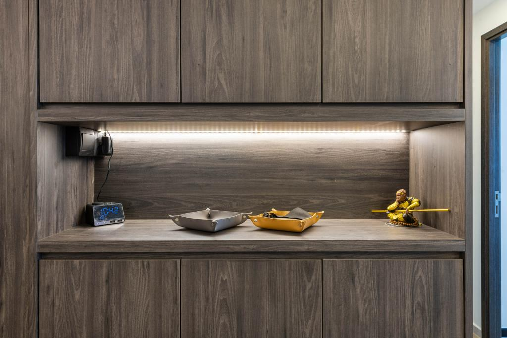 Modern, HDB, Living Room, Parc Riviera, Interior Designer, Mr Designer Studio, Contemporary