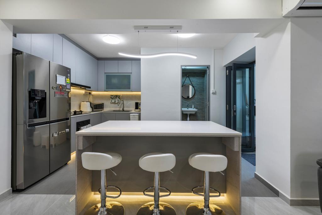 Modern, HDB, Kitchen, Ang Mo Kio Avenue 4, Interior Designer, Space Concepts Design