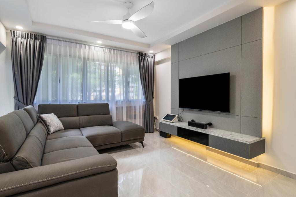 Modern, HDB, Living Room, Ang Mo Kio Avenue 4, Interior Designer, Space Concepts Design