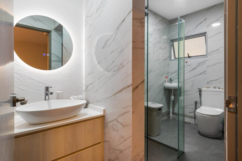 Modern, HDB, Bathroom, Ang Mo Kio Avenue 4, Interior Designer, Space Concepts Design