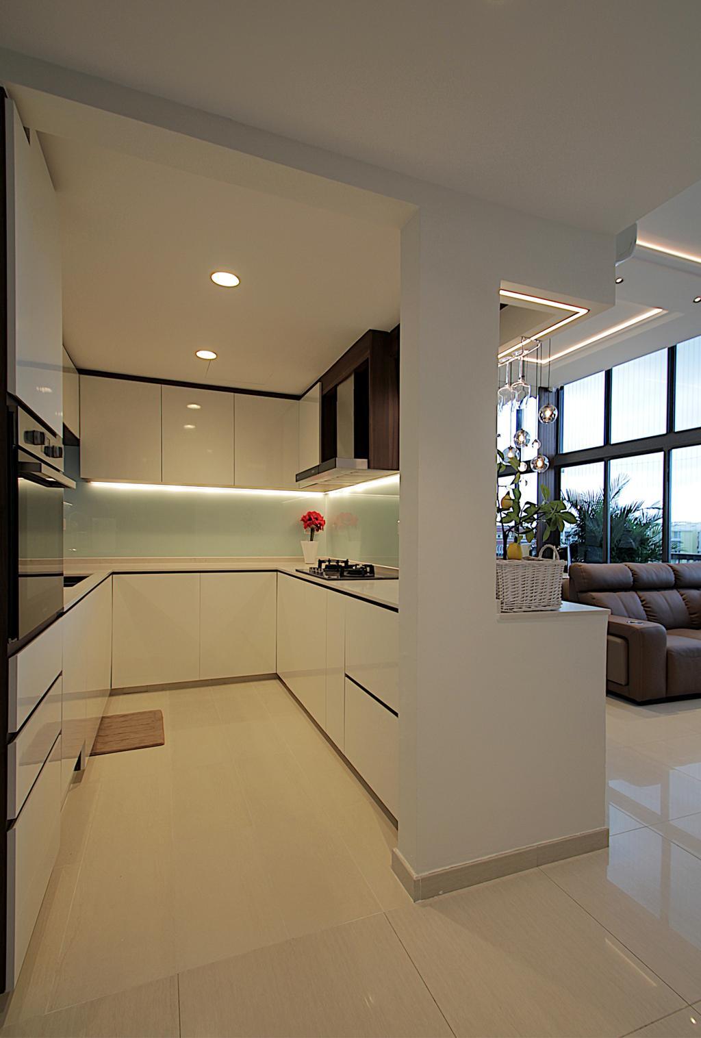 Modern, Condo, Kitchen, Pasir Ris Drive 1, Interior Designer, Mesh Room Design