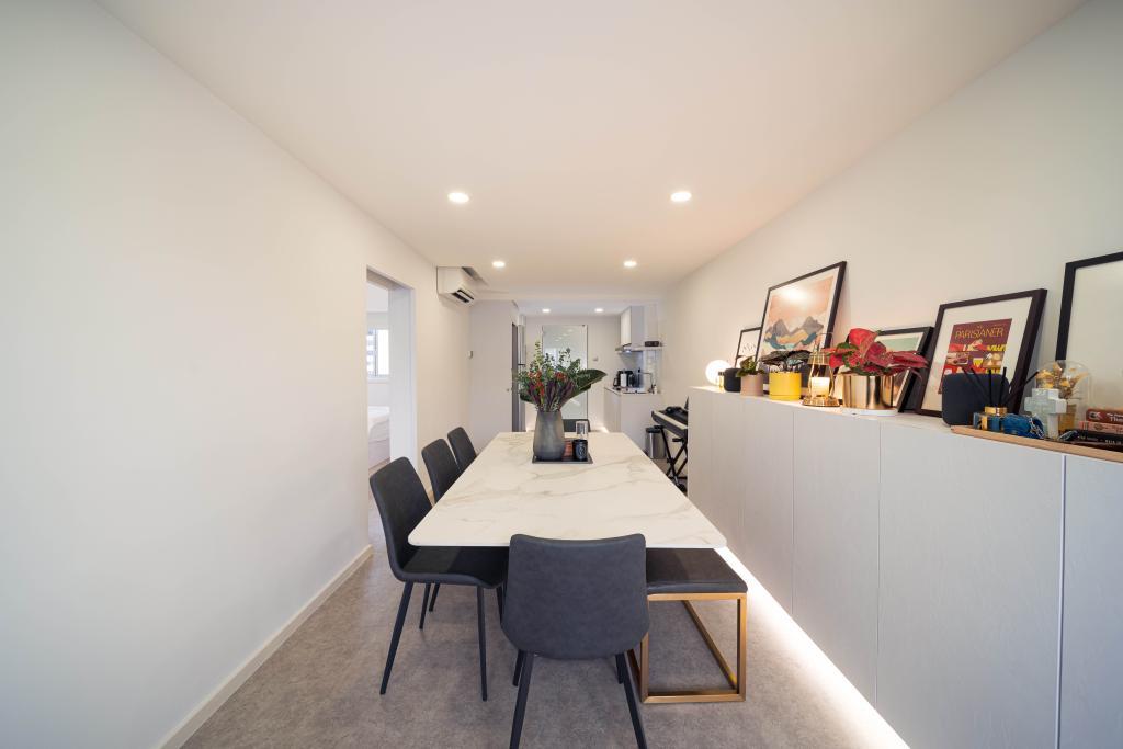 Minimalistic, HDB, Dining Room, Ghim Moh Link, Interior Designer, Livinci Interior