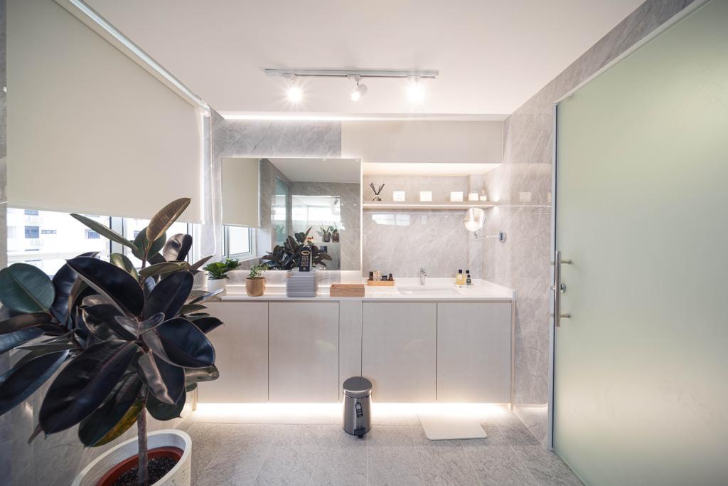 Minimalistic, HDB, Bathroom, Ghim Moh Link, Interior Designer, Livinci Interior