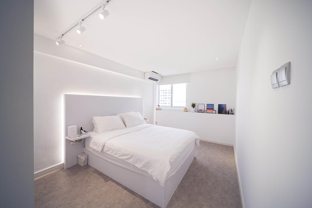 Minimalistic, HDB, Bedroom, Ghim Moh Link, Interior Designer, Livinci Interior