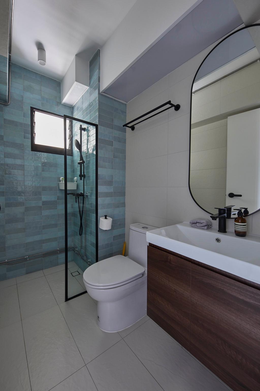 Contemporary, HDB, Bathroom, Tanglin Halt, Interior Designer, i-Chapter