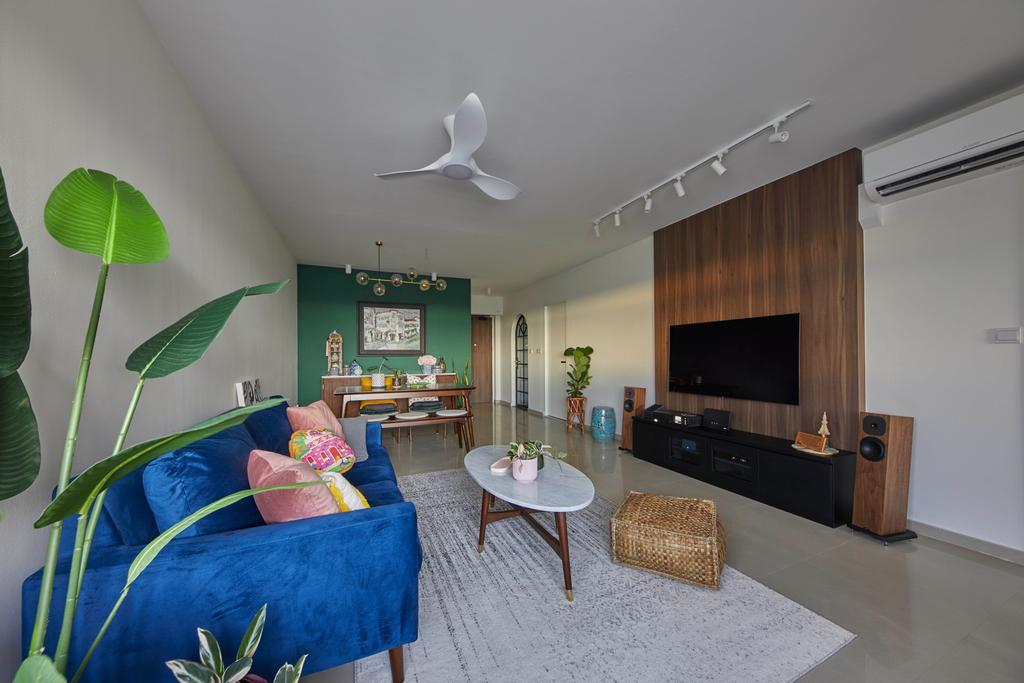 Contemporary, HDB, Living Room, Tanglin Halt, Interior Designer, i-Chapter