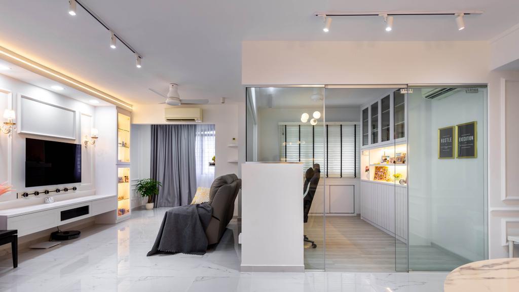 Contemporary, HDB, Living Room, Toh Guan Road, Interior Designer, Yang's Inspiration Design
