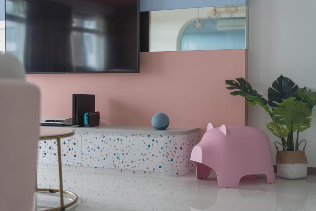 Contemporary, HDB, Living Room, Upper Serangoon View, Interior Designer, Urban Home Design 二本設計家, Eclectic