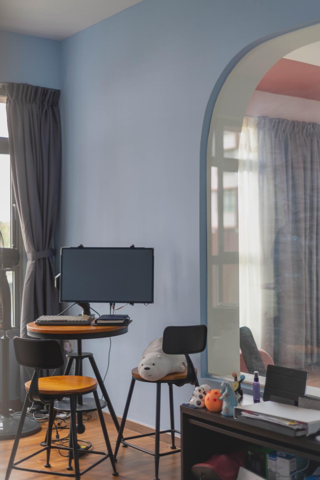 Contemporary, HDB, Study, Upper Serangoon View, Interior Designer, Urban Home Design 二本設計家, Eclectic