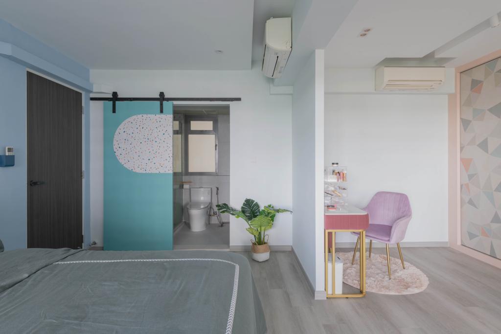 Contemporary, HDB, Bedroom, Upper Serangoon View, Interior Designer, Urban Home Design 二本設計家, Eclectic