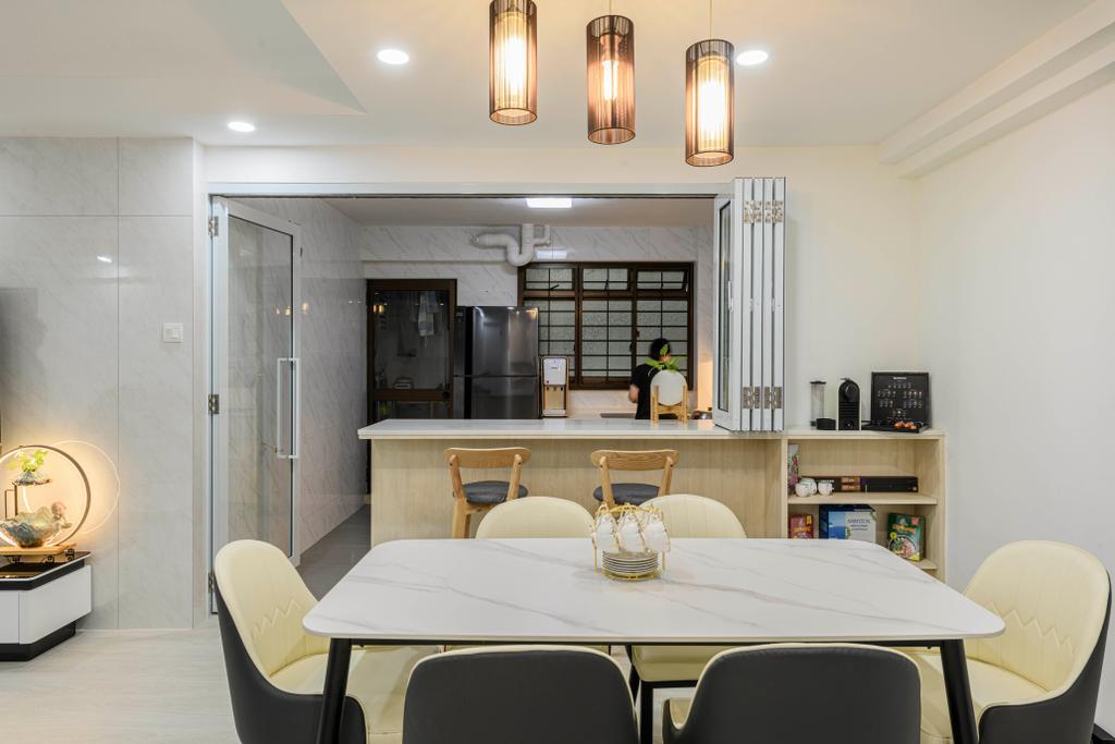 Modern, HDB, Dining Room, Woodlands Drive 14, Interior Designer, T&T Design Artisan
