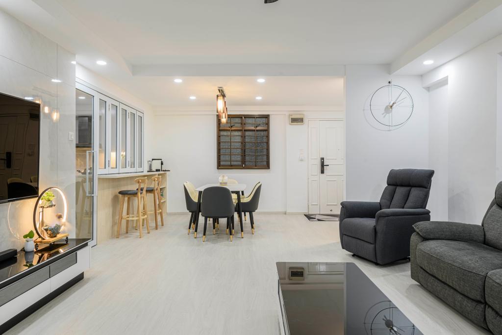 Modern, HDB, Living Room, Woodlands Drive 14, Interior Designer, T&T Design Artisan