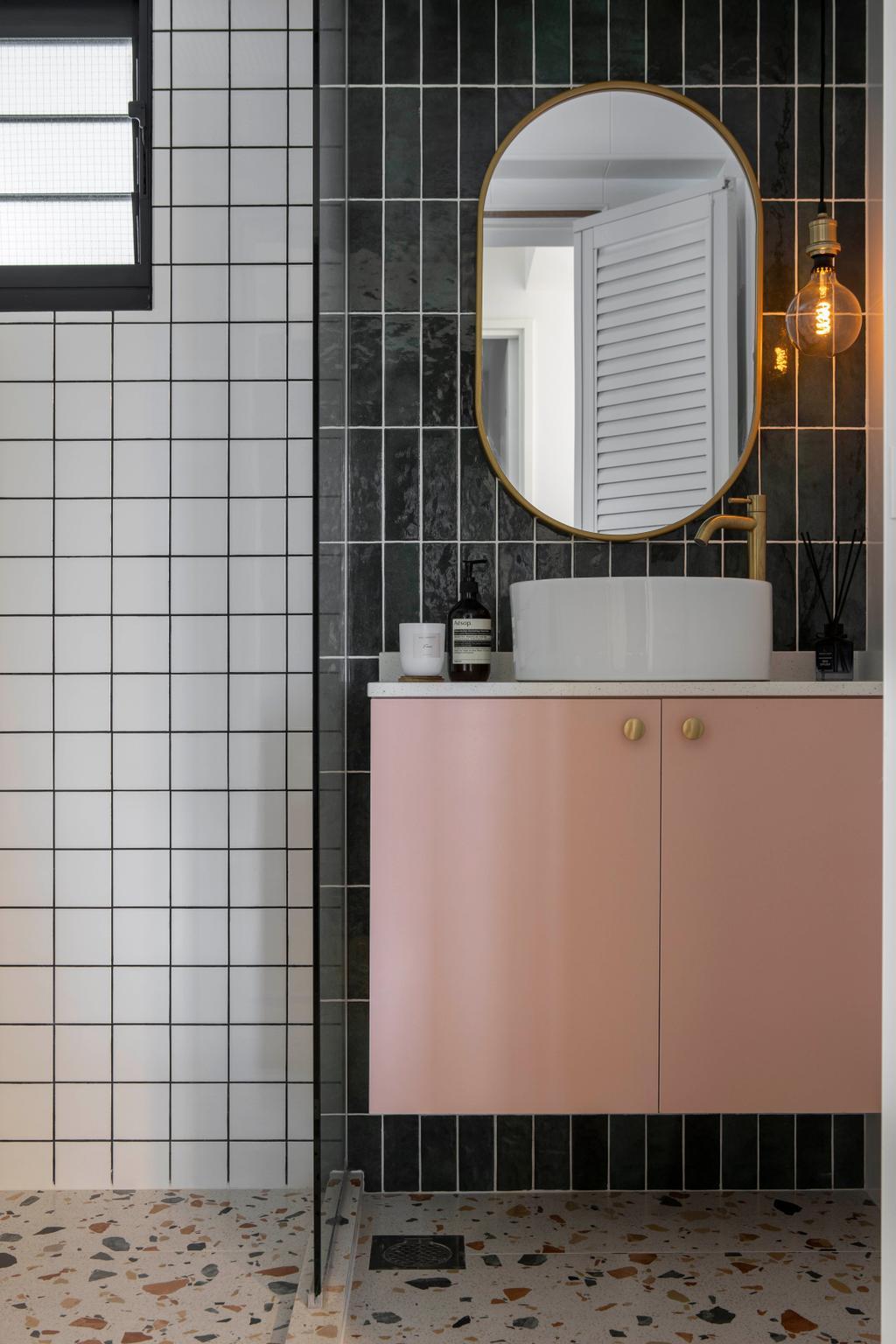 Eclectic, HDB, Bathroom, Alkaff Crescent, Interior Designer, Fifth Avenue Interior