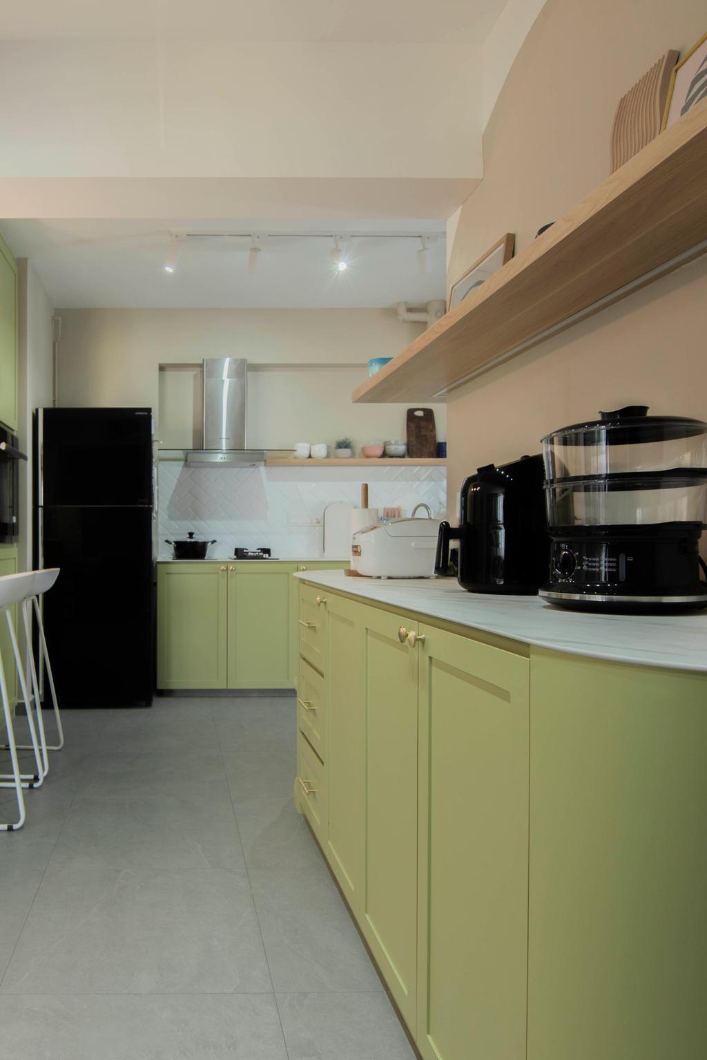 Contemporary, HDB, Kitchen, Northshore Drive, Interior Designer, Mr Designer Studio