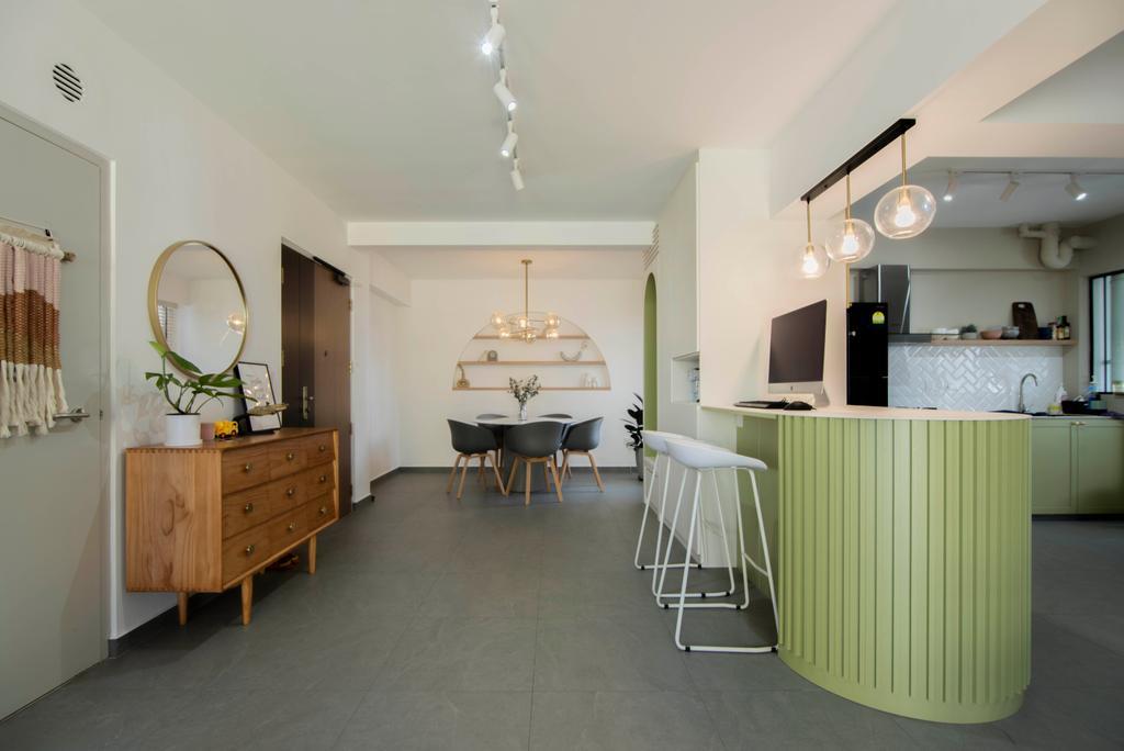 Contemporary, HDB, Dining Room, Northshore Drive, Interior Designer, Mr Designer Studio