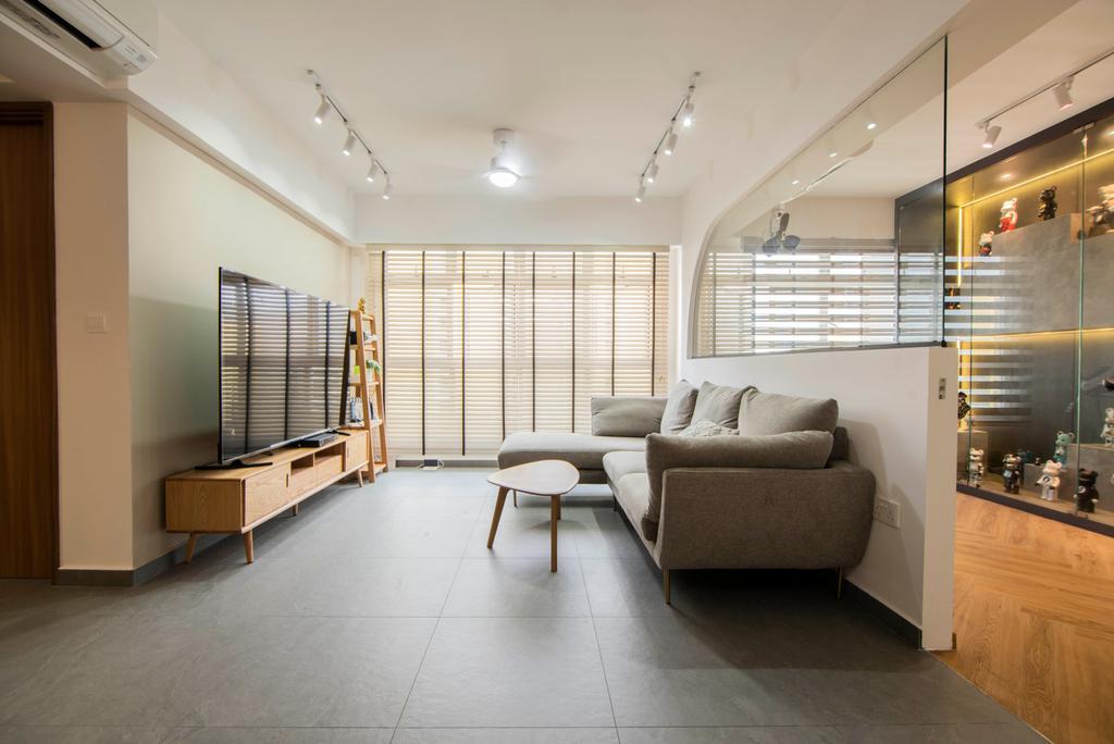 Contemporary, HDB, Living Room, Northshore Drive, Interior Designer, Mr Designer Studio